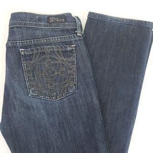 CofH Chain Link Stretch Straight Leg Jeans Dark 28